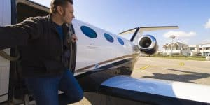 golfers with private jets