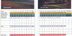 how to read a golf scorecard